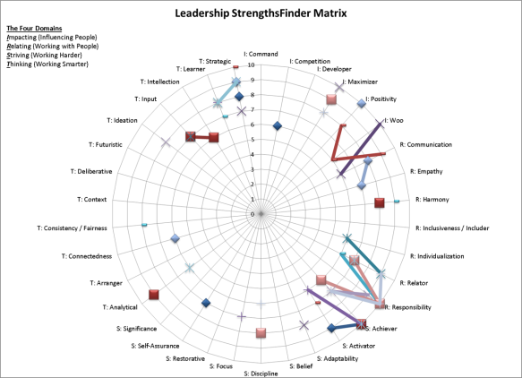 Leadership StrengthsFinder Matrix